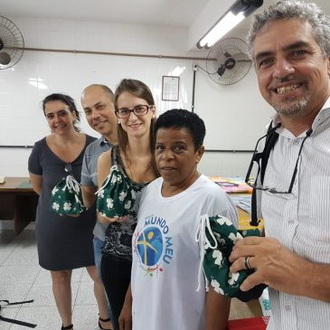 Instituto Lojas Renner visita o Instituto Francisca de Souza Peixoto.