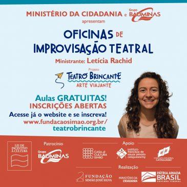 """Oficinas Gratuitas """"Introdução à Improvisação Teatral""""."""